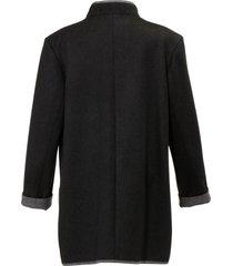 loden jas van scheerwol en alpaca van peter hahn grijs