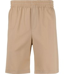 msgm straight-leg bermuda shorts - brown
