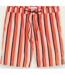 scotch & soda lined printed swim shorts