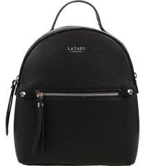 mochila de cuero negra lazaro maudit