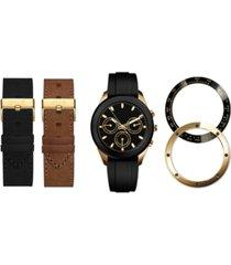 american exchange men's interchangeable strap & bezel watch 47mm gift set