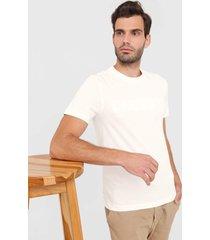 camiseta lacoste bordada off-white