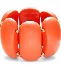 kenneth jay lane women's goldtone stretch bracelet
