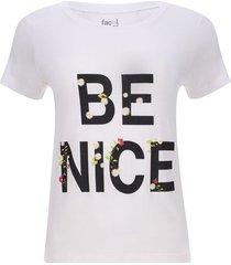 camiseta be nice color blanco, talla xs