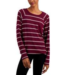 alfani hacci sweater knit pajama top, created for macy's