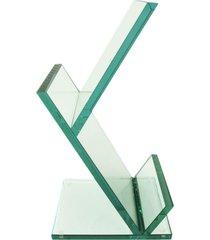 revisteiro escher de vidro grande vidrotec branco - branco - dafiti