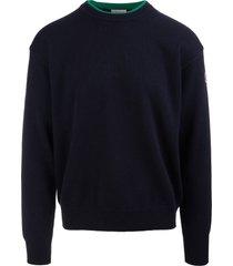 moncler man navy blue eco cashmere pullover