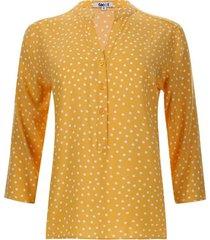 blusa mujer print pepas color amarillo, talla l