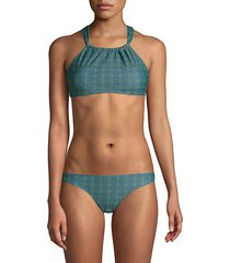catalina geometric 2-piece bikini set
