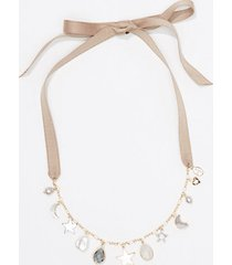 loft charmed tie back necklace