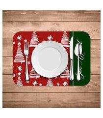 jogo americano de natal bon appetit kit com 4 pçs