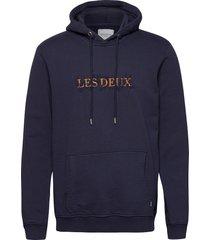 leaves hoodie hoodie trui blauw les deux