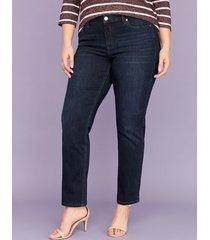 lane bryant women's super soft super stretch straight jean - dark wash 24l dark denim