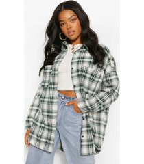 geruite oversized blouse, forest