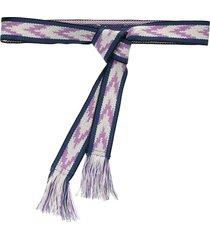 isabel marant etka fringed woven belt - blue
