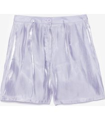 womens glass shorts co ord - lilac