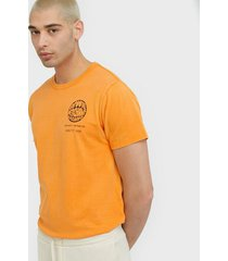neuw groove bass tee t-shirts & linnen orange