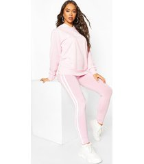 woman hoodie and legging tracksuit, dusky pink