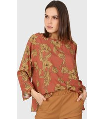 blusa marrón newliza
