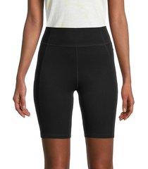 grey state women's everly high-rise bike shorts - black - size l