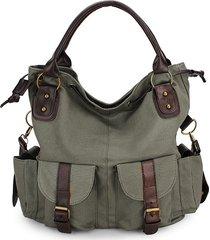 donna casual borsa a spalla con manici in tela borsa a tracolla con manico shopping bag