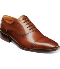 zapato sorrento cap toe oxford cognac florsheim