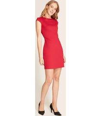 vestido manga casquito rojo 14