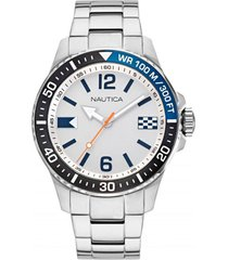 reloj casual plateado nautica