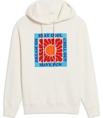 women's sandro philario graphic hoodie, size 4 - white