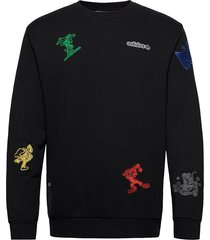 goofy crew sweat-shirt trui zwart adidas originals