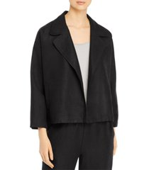 eileen fisher organic open-front jacket