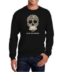 la pop art men's word art dia de los muertos crewneck sweatshirt