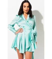 akira winter nights wrap mini dress