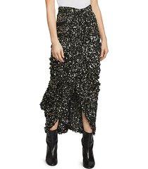 calliandra sequin high-low skirt