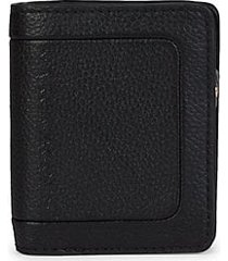 compact leather bifold wallet