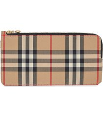 burberry vintage check phone wallet - neutrals