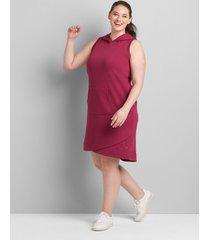 lane bryant women's livi hooded dress 34/36 boysenberry