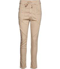 new jog color slimfit broek skinny broek beige please jeans