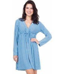 camisola malha homewear marinho - 589.0712 marcyn lingerie camisolas azul