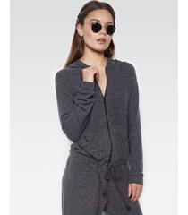 fargo zip up jumpsuit - l black