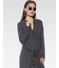 fargo zip up jumpsuit - l black