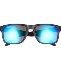 oakley holbrook 57mm sunglasses in black yellow at nordstrom