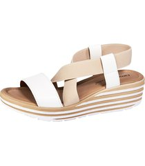 sandaletter liva loop vit::beige
