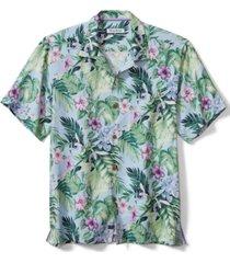 tommy bahama men's garden of hope floral silk short-sleeve shirt