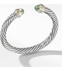 david yurman cable classics bracelet with semiprecious stones & 14k gold, 7mm, size small in no color at nordstrom