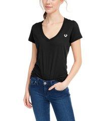 true religion v-neck graphic cotton t-shirt