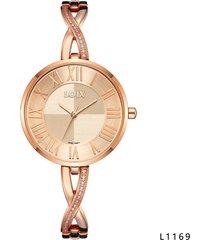 reloj para dama marca loix ref  l1169-06 oro rosa