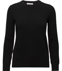 basic sweater gebreide trui zwart davida cashmere