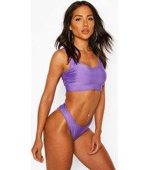 basic crop bikini, lilac