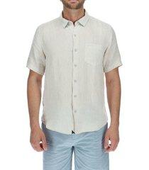 camisa lino hombre linenshort beige rockford